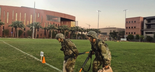 Students in ASU's ROTC program participate in activities