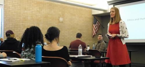photo of Alissa Ruth teaching practicum course