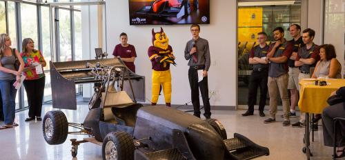 The car made by the ASU chapter of the Society of Automotive Engineers
