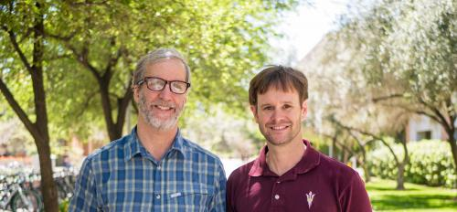 Michael McBeath and Sam McClure, researchers in the ASU Department of Psychology
