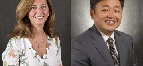 portraits of ASU engineers Anna Scaglione and Gail-Joon Ahn