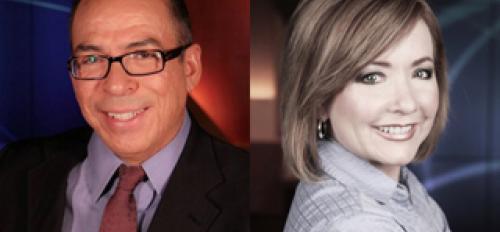 Alfredo Corchado and Angela Kocherga