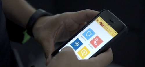 ASU's LiveSafe app is shown on a smartphone