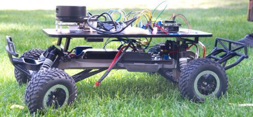 A self-navigating car from CSE 325: Embedded Microprocessor Systems. Photographer: Mihir Bhatt/ASU
