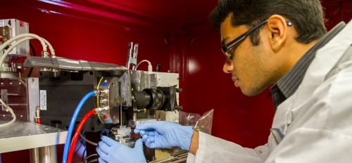 Shashank Kaira works in Professor Nik Chawla's Center for 4D Materials Science