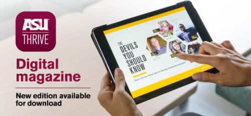 ASU Thrive digital magazine