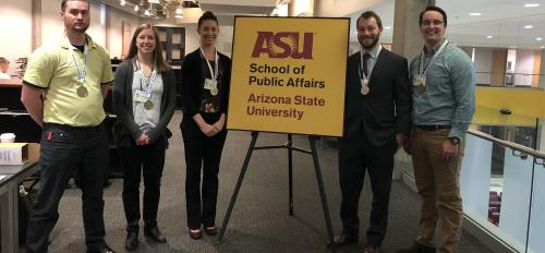 Team from ASU regional site that placed second in the 2018 NASPAA-Batten Student Simulation Competition