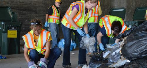 ASU students sort waste for SRP