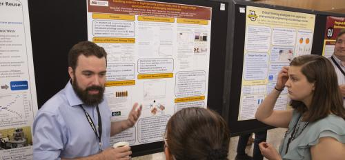 ASU students presented their research at the 2019 Association of Environmental Engineering and  Science Professors at ASU