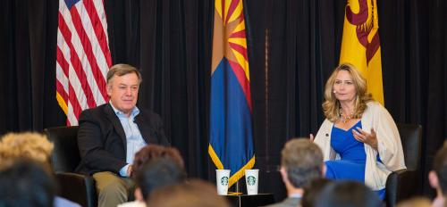 ASU's Michael M. Crow and Starbucks Gerri Martin-Flickinger