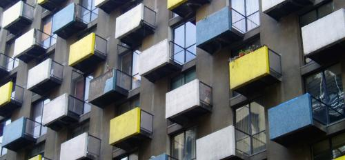 An apartment building in Santiago, Chile