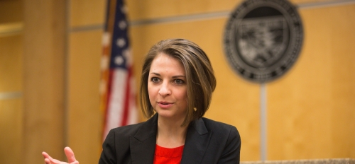 Assistant Professor of Psychology, Tess Neal speaking in a court room