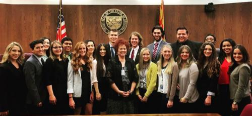 Future ASU members of the Teach for America corps at the Arizona Senate