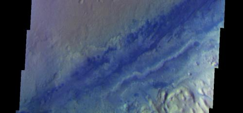 THEMIS view of Gale Crater floor in color.