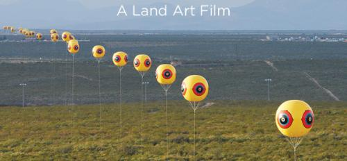 Image shows a poster for 'Through the Repellent Fence: A Land Art Film,' to première at MoMA's annual festival of international nonfiction film, Feb. 16–26, 2017