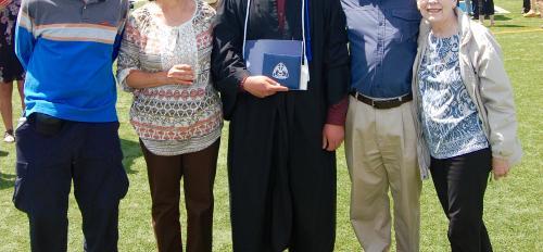 ASU alumnus attends grandson's graduation