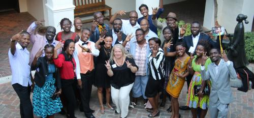 group photo of Washington Fellows for Young African Leaders