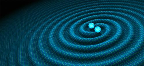 Artist rendering of gravitational waves