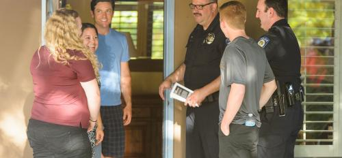ASU, Tempe Police visiting with Tempe resident