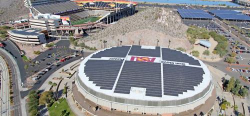 Wells Fargo Arena solar panels