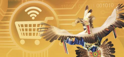 Graphic artwork of Native American e-commerce
