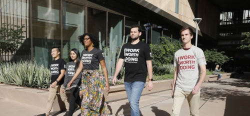 Photo of ASU Law students work worth doing