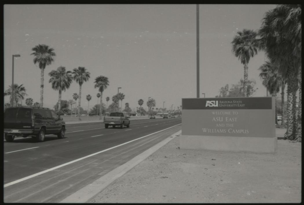 archived photo of ASU East sign