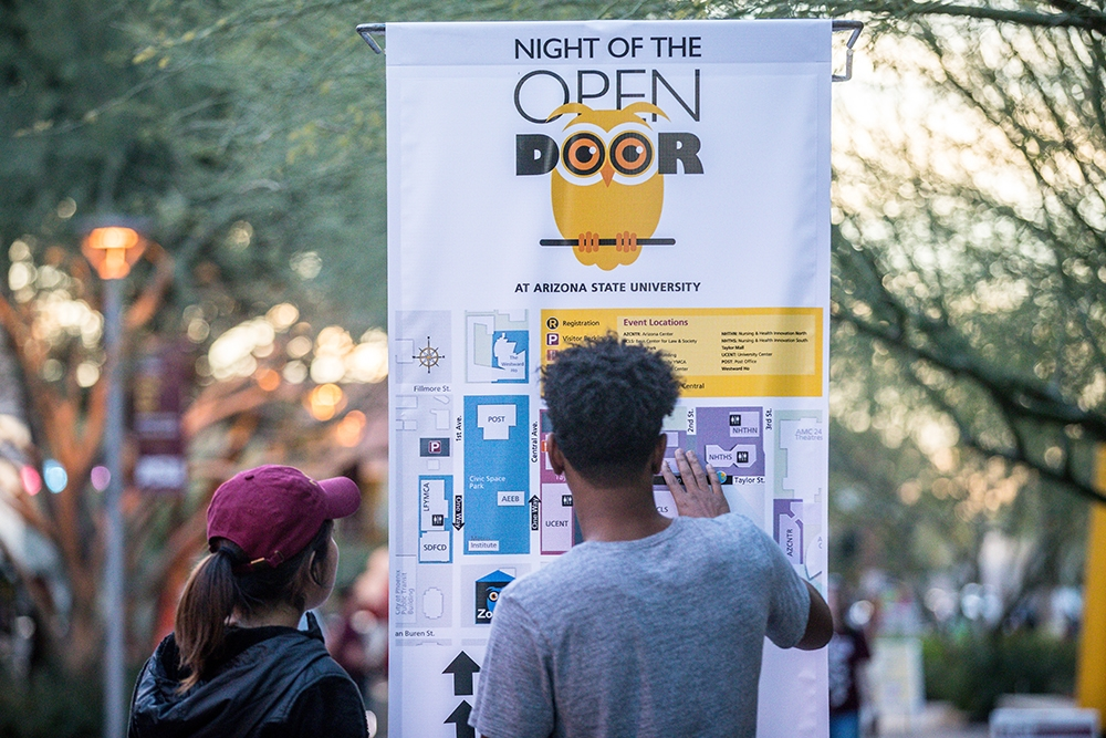 ASU Night of the Open Door Looking at the map