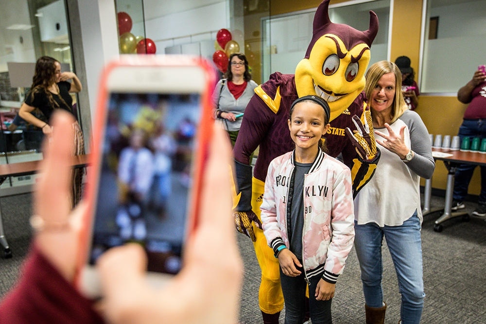 ASU Night of the Open Door Pictures with Sparky