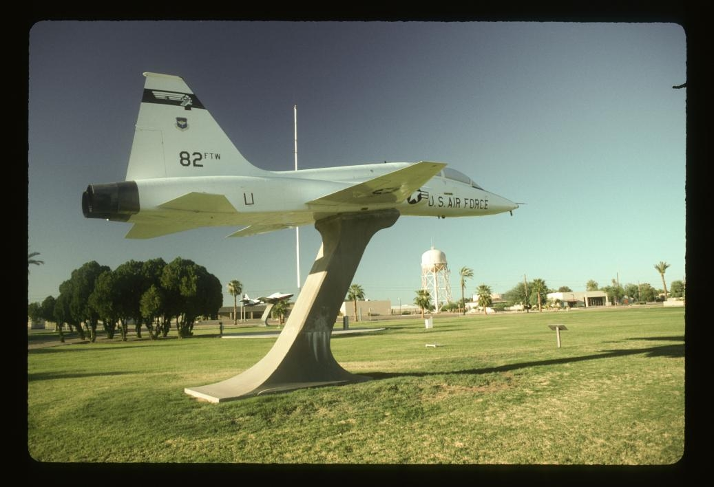 archived photo of model plane ASU East campus