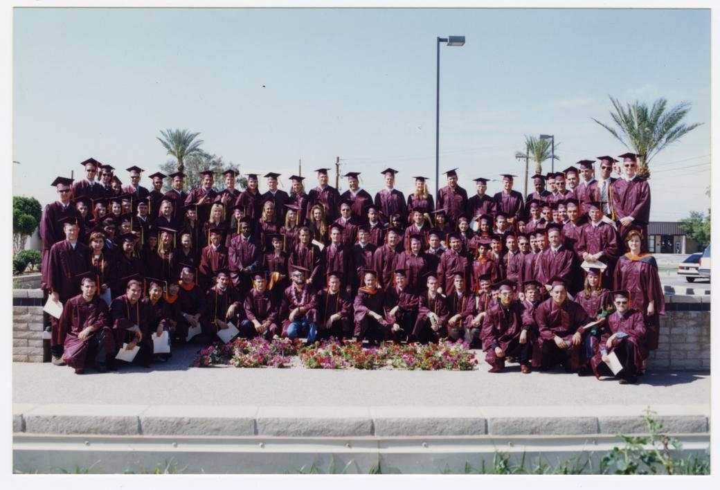 archived photo of graduating class at ASU East