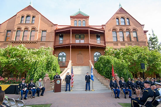 army convocation outside Old Main