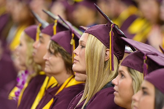 students at convocation