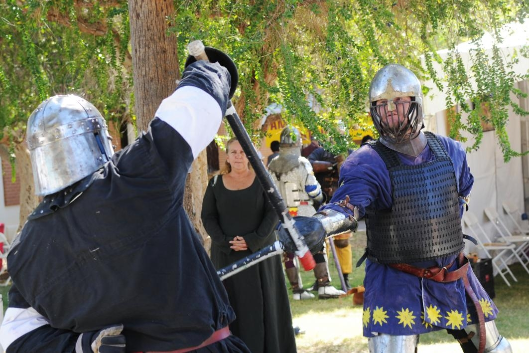 Phoenix Historical Swordsmanship Society demo at the 2013 Homecoming Block Party