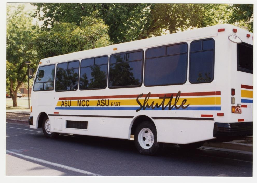 archived photo of an intercampus shuttle
