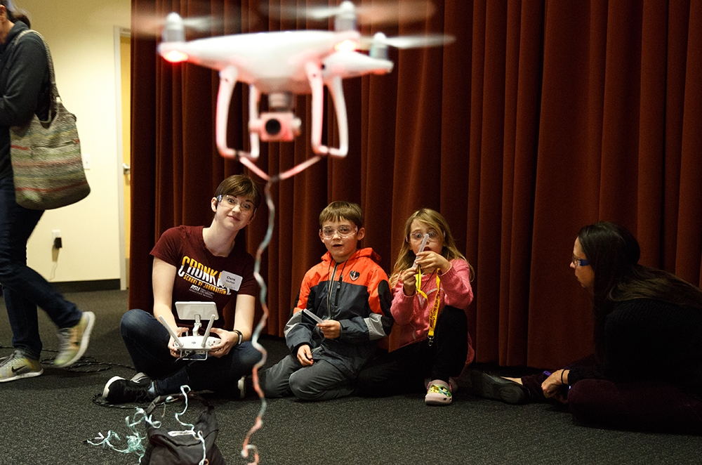 ASU Night of the Open Door Flying a drone
