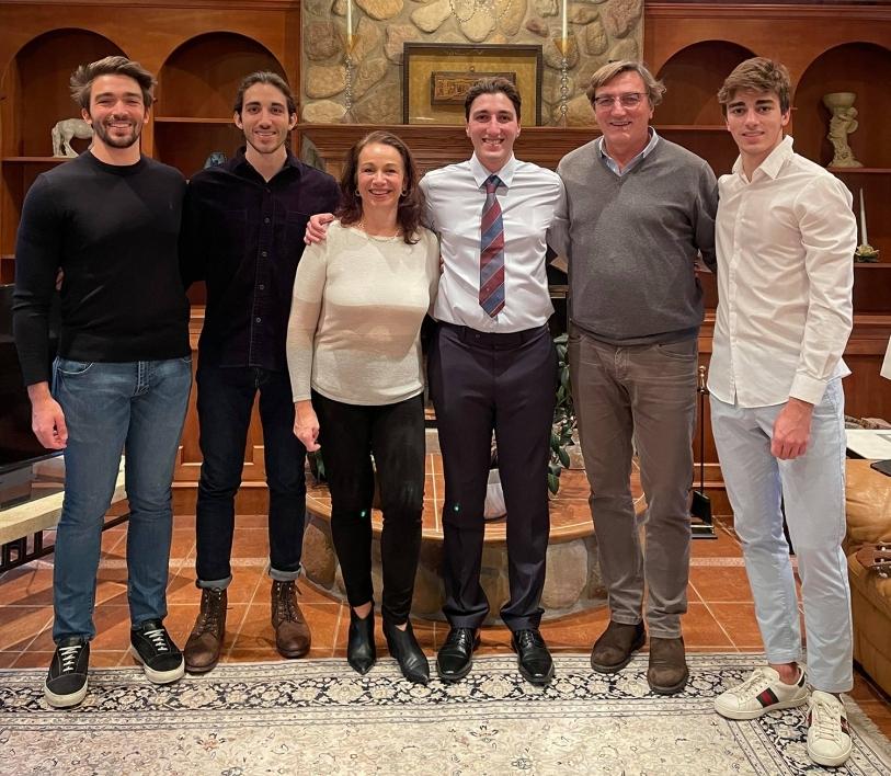 Donatella Danielli with her family