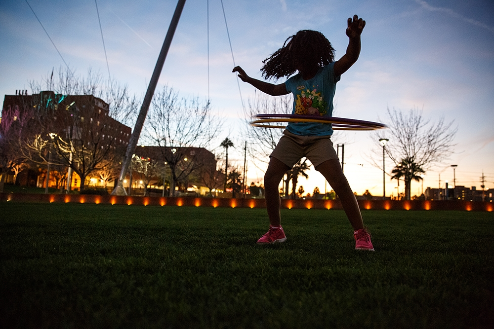 ASU Night of the Open Door Hula Hooping into the evening