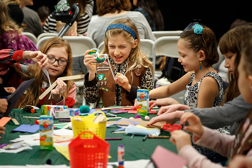 Girl Scouts join the festivities