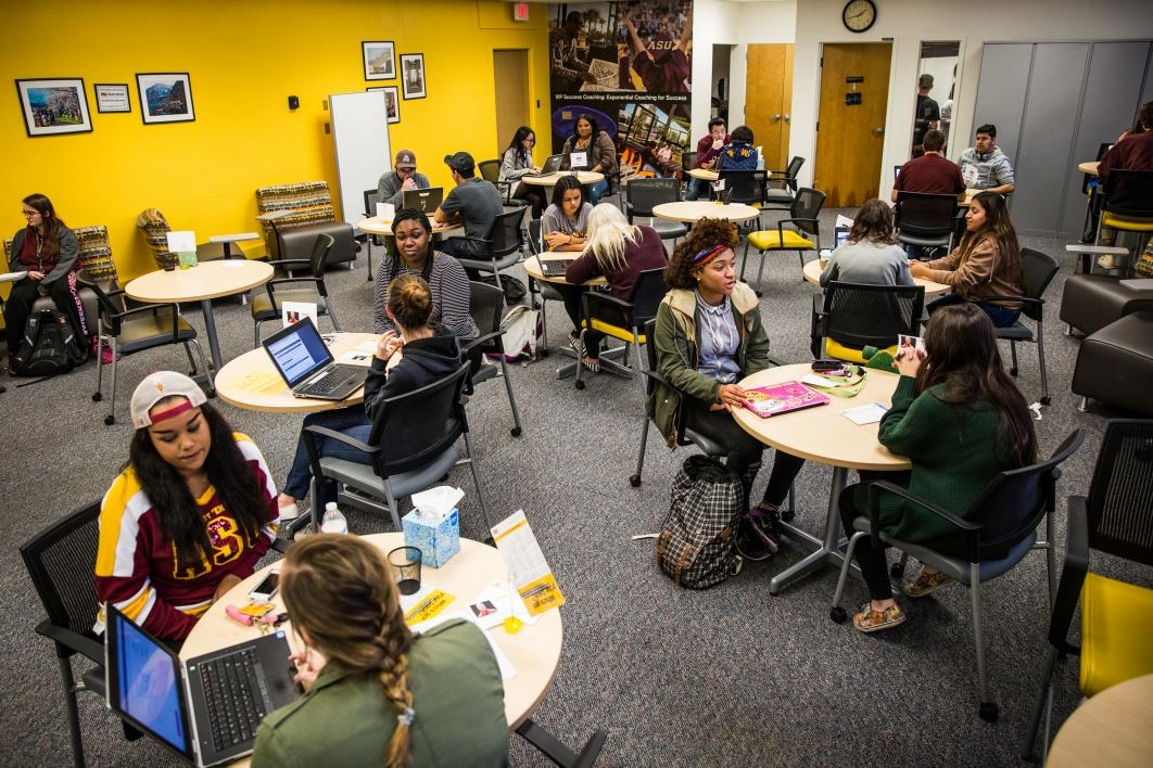 ASU students and success coaches in First Year Success Center