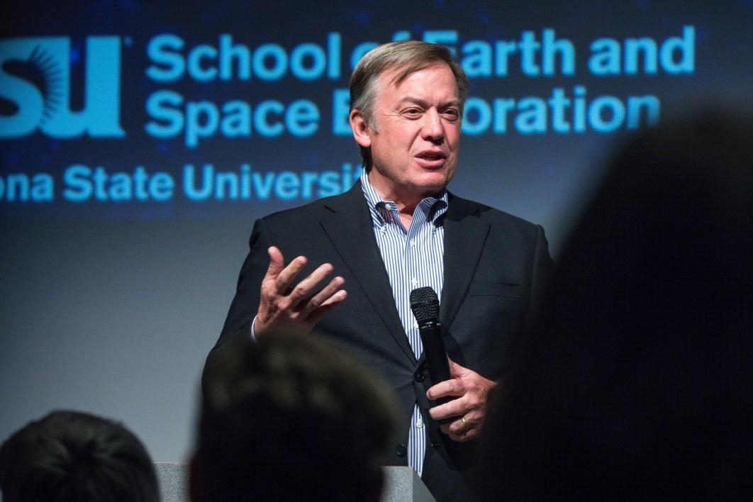 Michael Crow at ASU space celebration