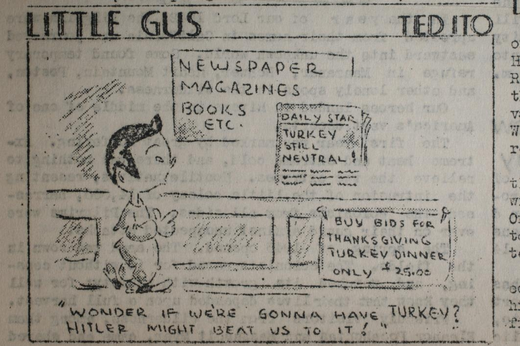 newspaper cartoon