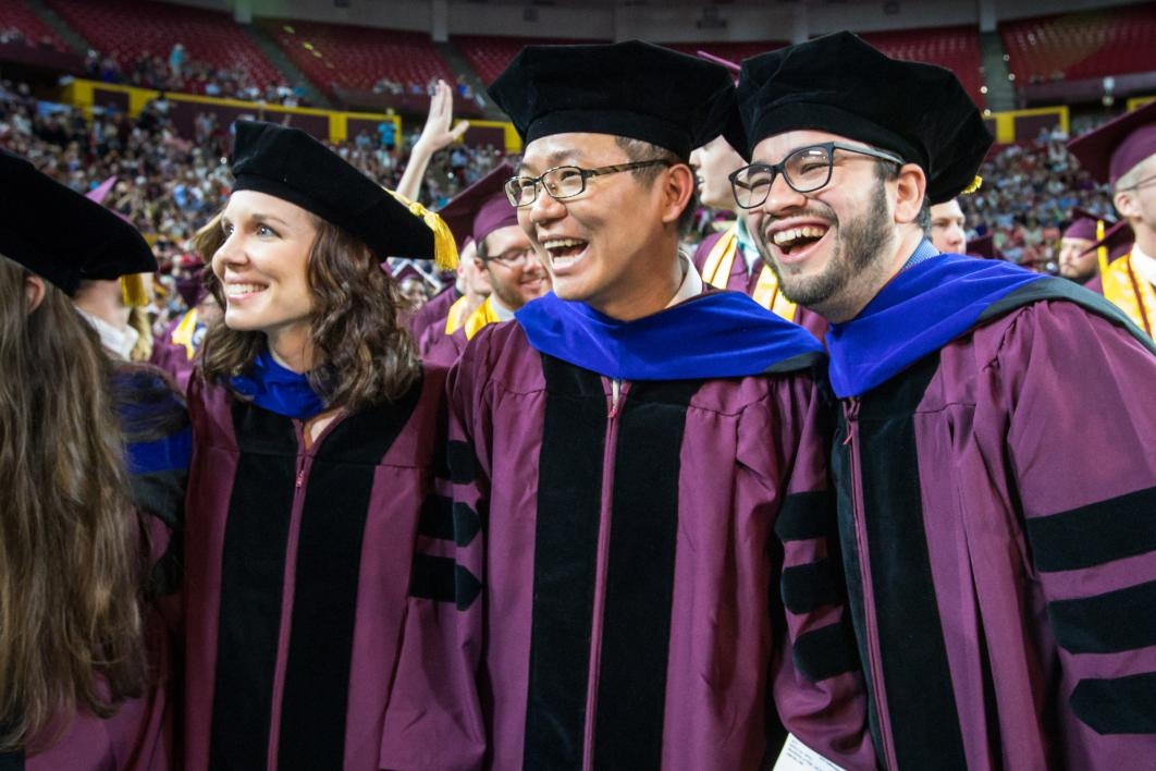 doctoral students at convocation