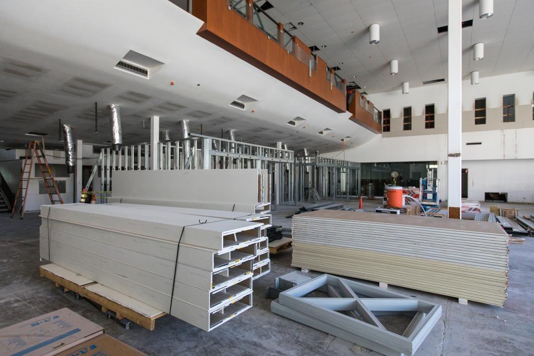 first floor of Ross-Blakley Hall mid-construction