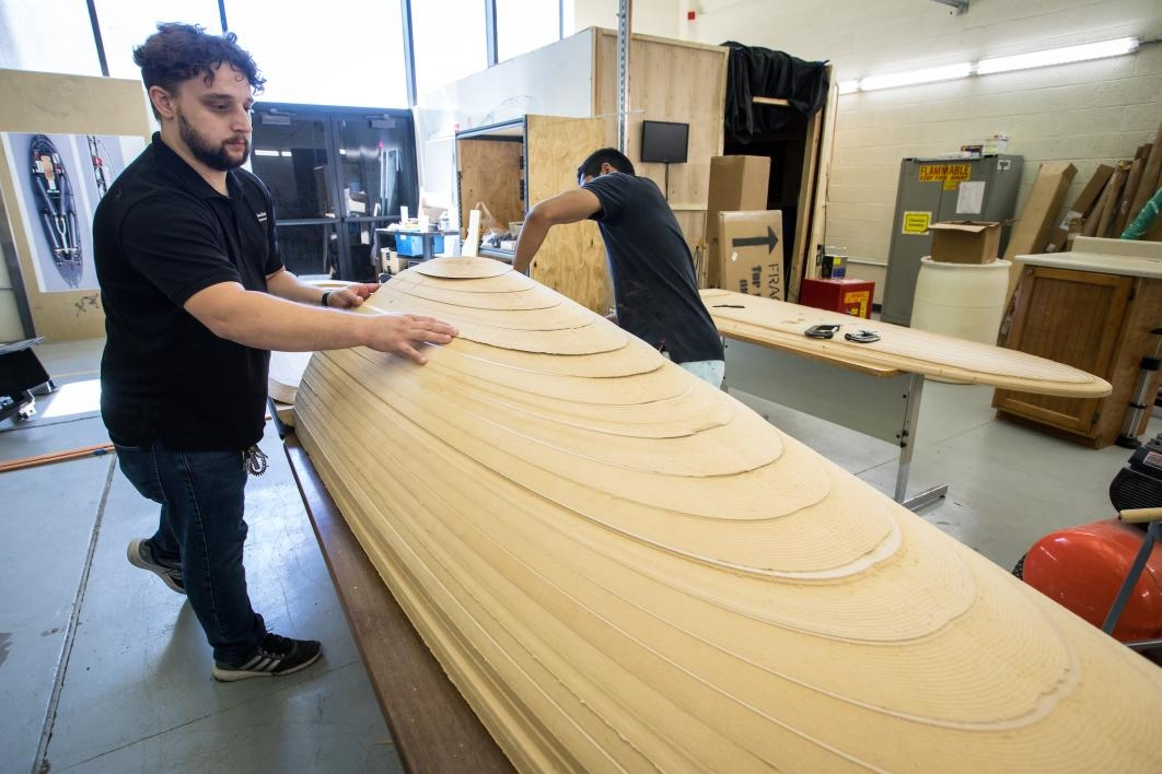 ASU students construct a model of a hyperloop pod