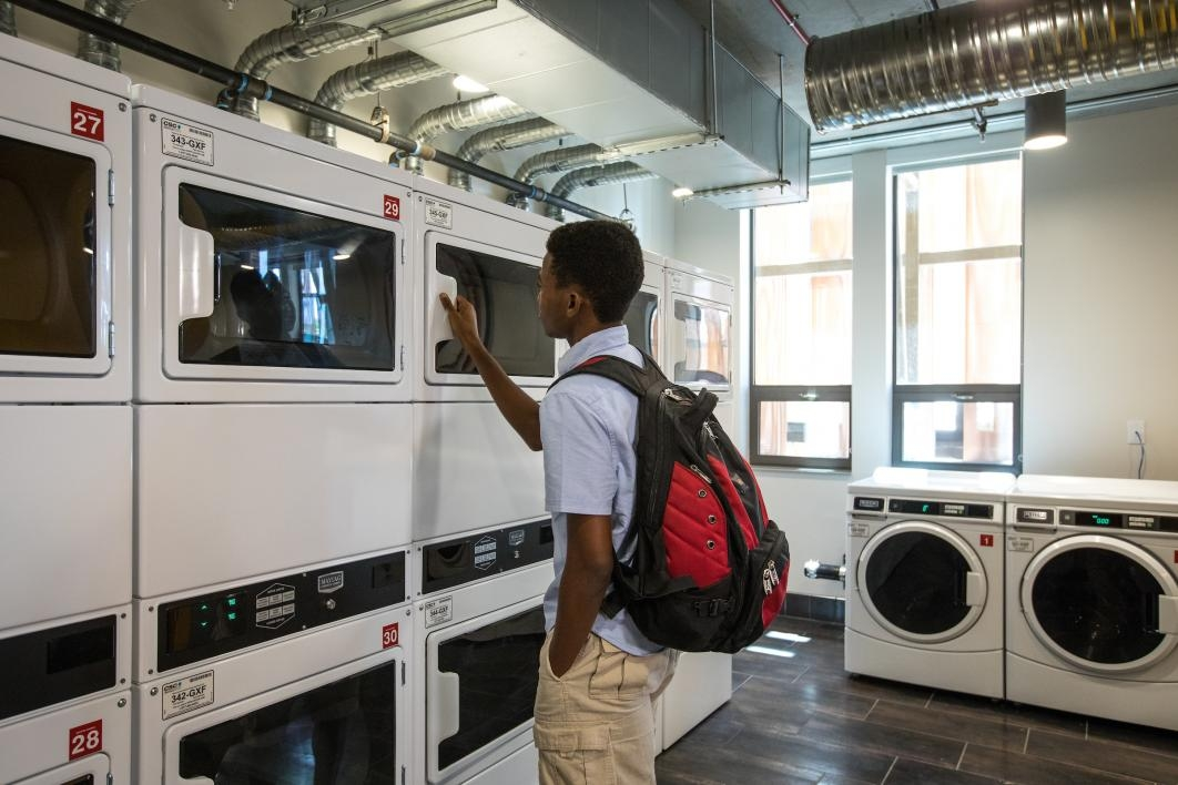 The Bluetooth-enabled laundry facilities at Tooker House