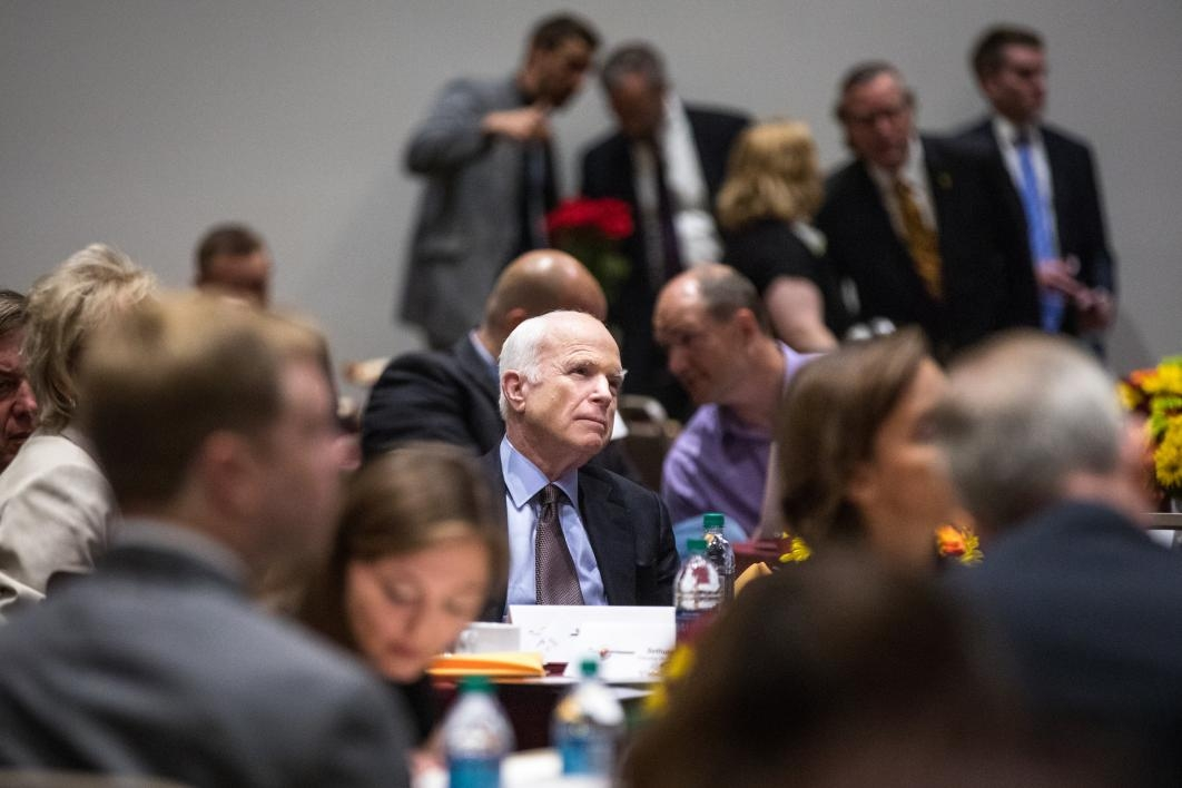 Sen. John McCain at an ASU cybersecurity conference