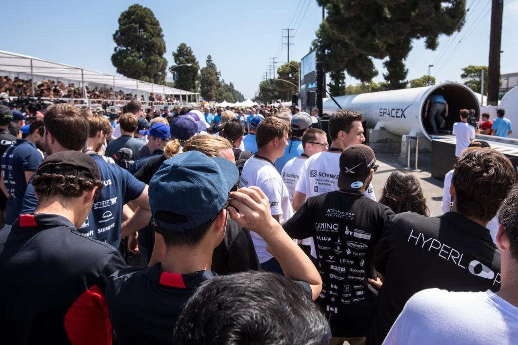 Hyperloop competition crowd