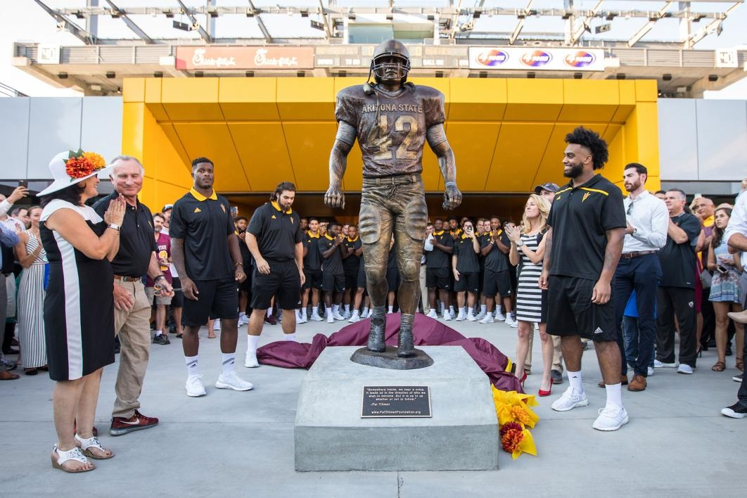 The Pat Tillman statue is revealed
