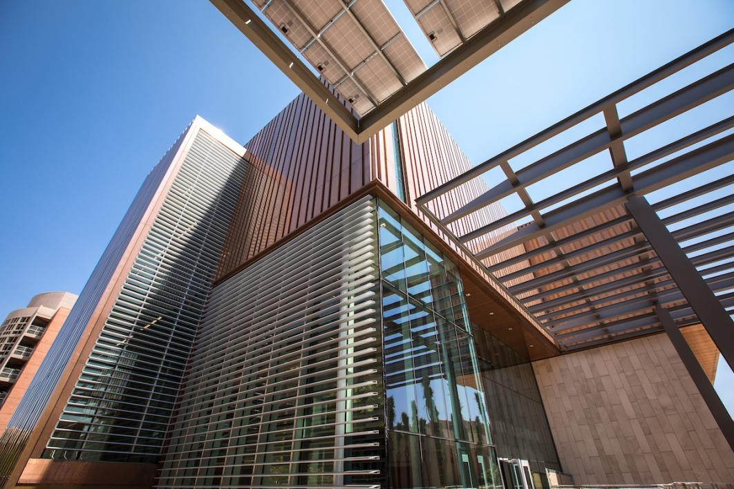outside of new Student Pavilion at ASU